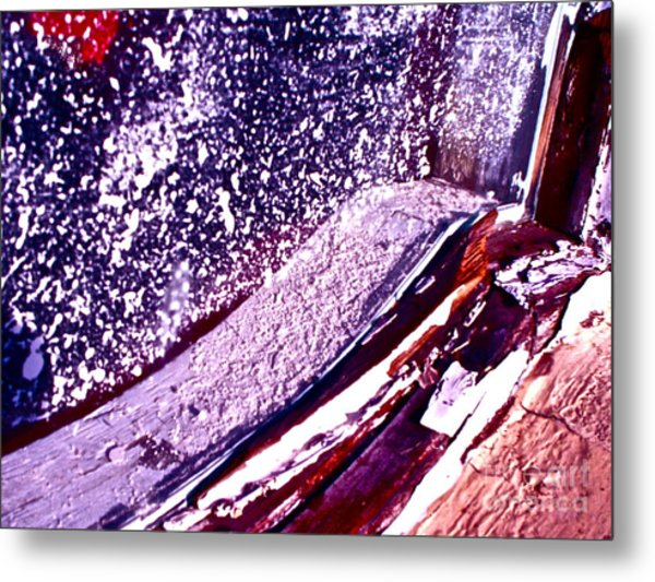 Curved Abstract Metal Print by Chuck Taylor