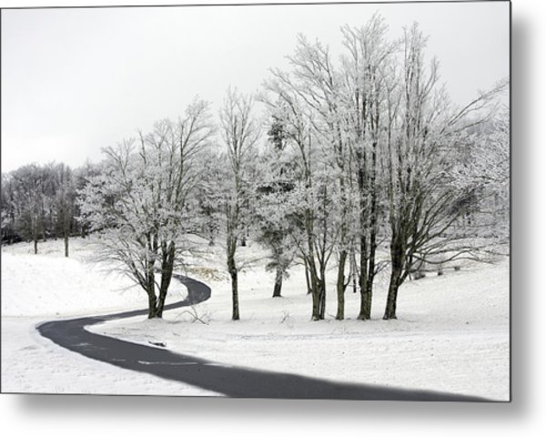 Mac Rae Field Curved Path Metal Print