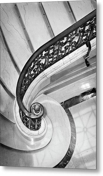 Curves And Light Metal Print