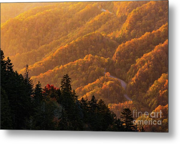 Smoky Mountain Roads Metal Print