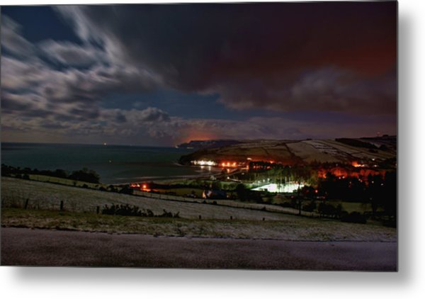 Cushendun By Night Metal Print