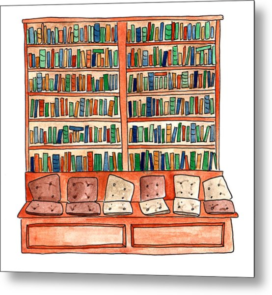 Cushions Room Of Shakespeare And Company Metal Print