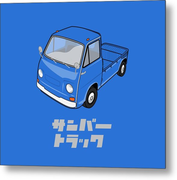 Custom Color Subaru Sambar Truck Metal Print