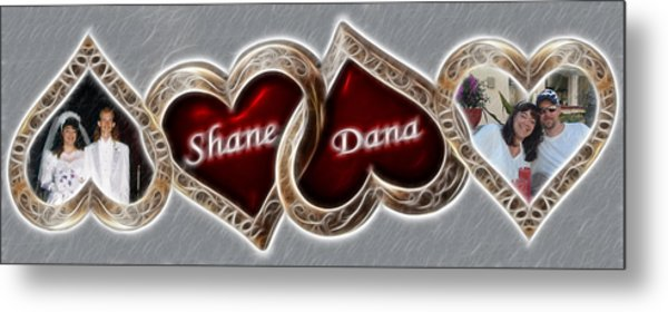 Custom Hearts Metal Print