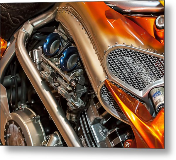 Custom Motorcycle Metal Print