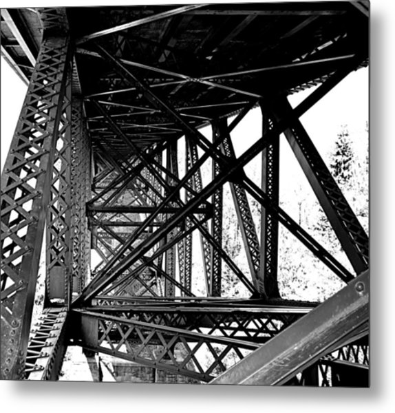 Cut River Bridge Metal Print