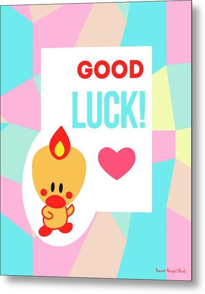 Cute Art - Sweet Angel Bird Pastel Colorblock Good Luck Wall Art Print Metal Print