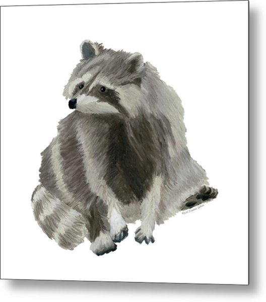 Cute Raccoon Metal Print