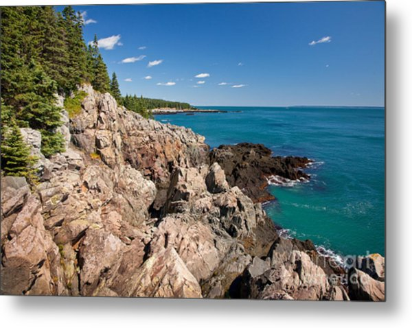 Cutler Cliffs 1 Metal Print