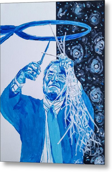 Cutting Down The Net - Dean Smith Metal Print