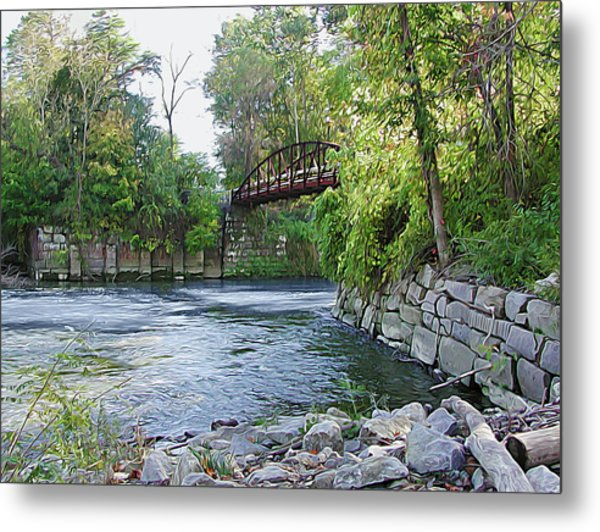 Cuyahoga River At Peninsula Metal Print