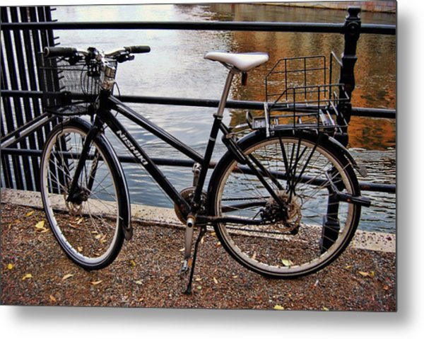 Cycling In Sweden Metal Print by JAMART Photography