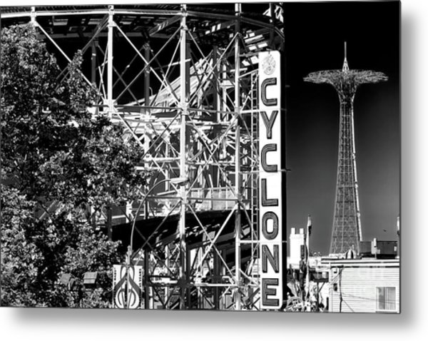 Cyclone At Coney Island Metal Print