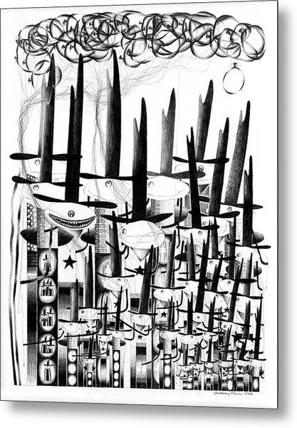 Cycloptic Family Portrait 2 Metal Print by Tony Paine