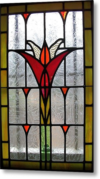 Cyndees Window Metal Print by Alan Carlson