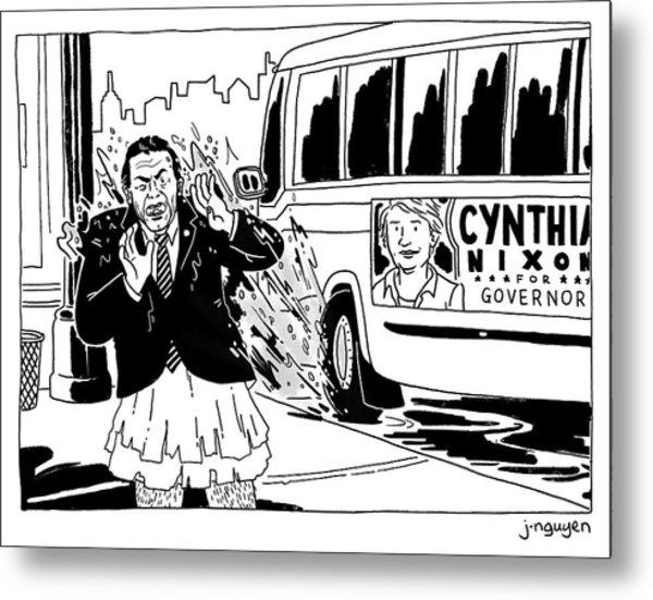 Cynthia Nixon For Governor Metal Print