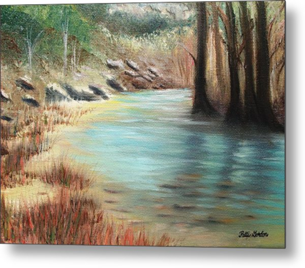 Cypress Bend Metal Print