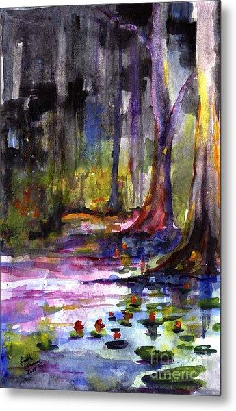 Cypress Gardens South Carolina Watercolor Metal Print