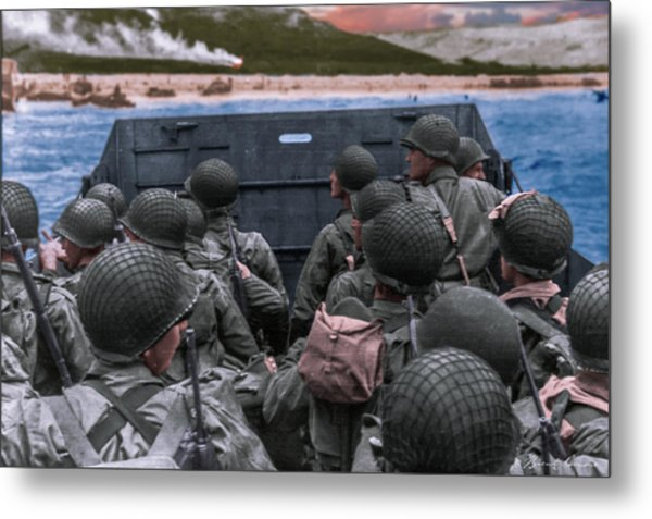D-day Landing Metal Print by Brent Shavnore