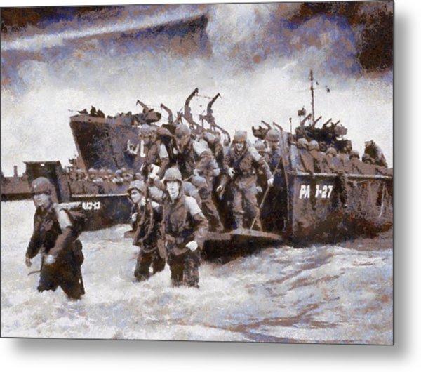 D-day Landing Metal Print