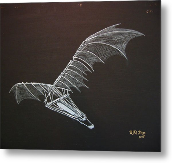 Da Vinci Flying Machine Metal Print