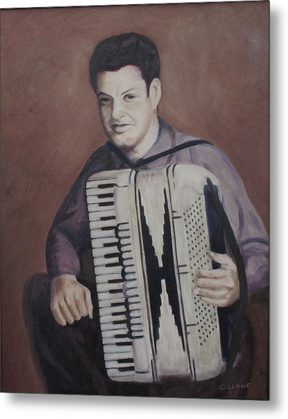 Daddy And His Accordion Metal Print