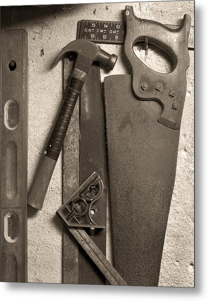 Dad's Old Tools Metal Print by Tony Ramos