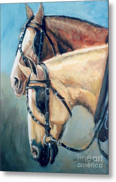 Dads Team     Horses In Harness Metal Print