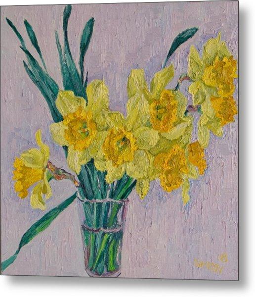 Daffodils Metal Print by Vitali Komarov