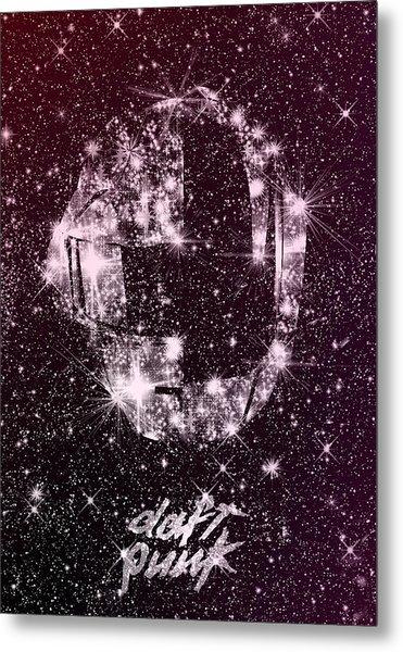 Daft Punk Poster Helmets Print Space Stars Random Access Memories Disco Retro Digital Print Metal Print