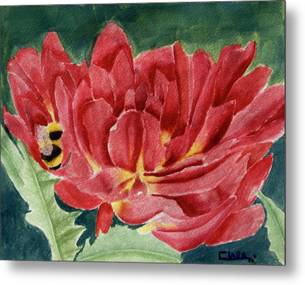Metal Print featuring the painting Dahlia by Wade Clark