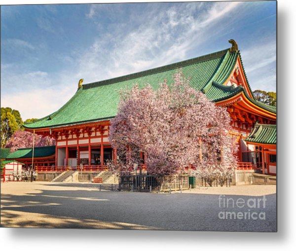 Daigukuden Main Hall Of Heian Jingu Shrine Metal Print