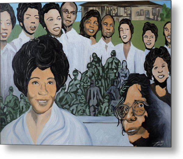 Daisy Bates And The Little Rock Nine Tribute Metal Print