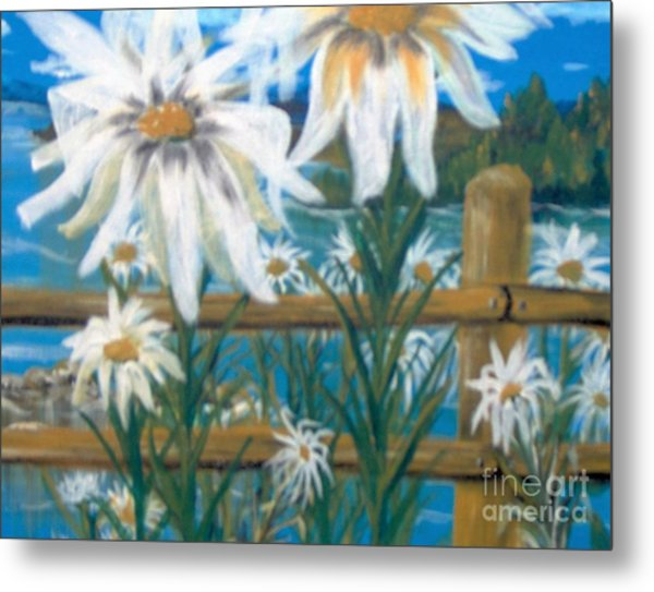 Metal Print featuring the painting Daisy Dance by Saundra Johnson