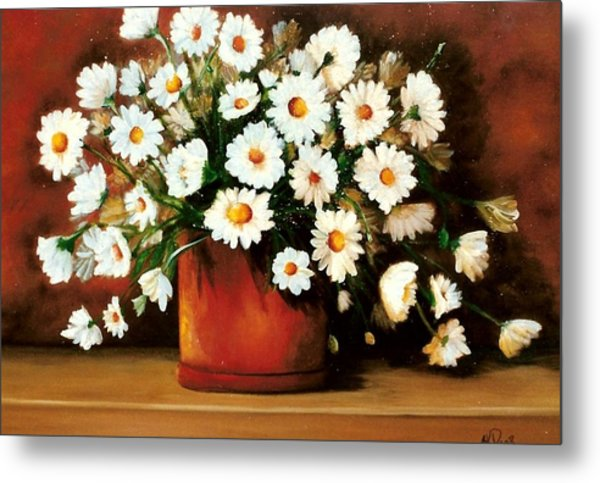 Metal Print featuring the painting Daisy Doodle  Sold by Susan Dehlinger