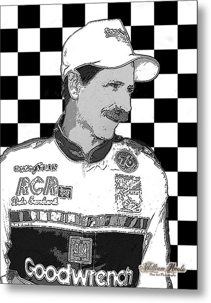 Metal Print featuring the digital art Dale Earnhardt Sr by William Havle