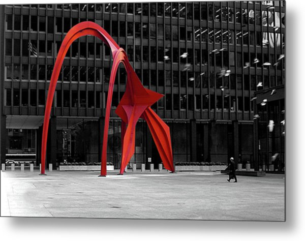 Daley Plaza Metal Print