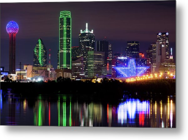 Dallas Cowboys Star Night Metal Print