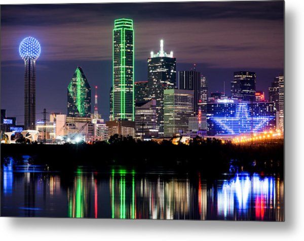 Dallas Cowboys Star Skyline Metal Print