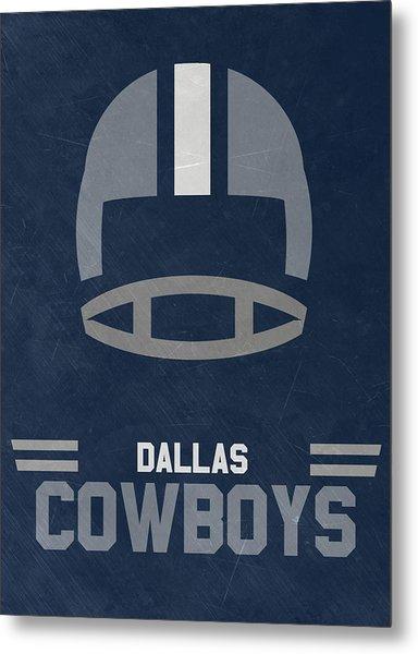 Dallas Cowboys Vintage Art Metal Print