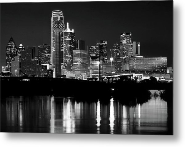 Dallas Nights Bw 6816 Metal Print