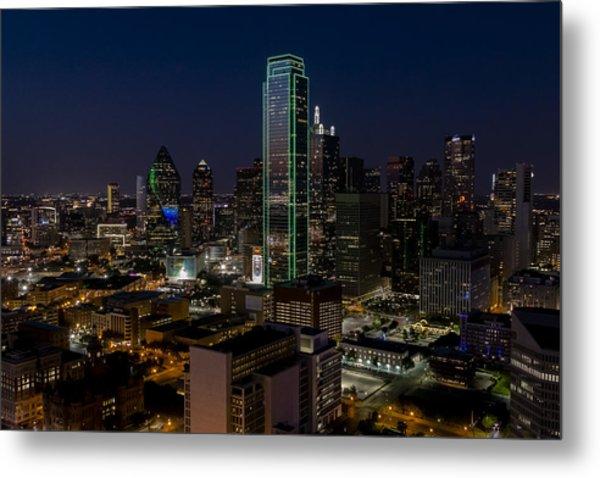 Dallas Skyline Evening Glow Metal Print