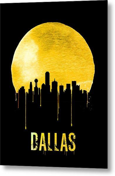 Dallas Skyline Yellow Metal Print