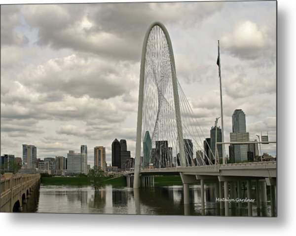 Dallas Suspension Bridge Metal Print