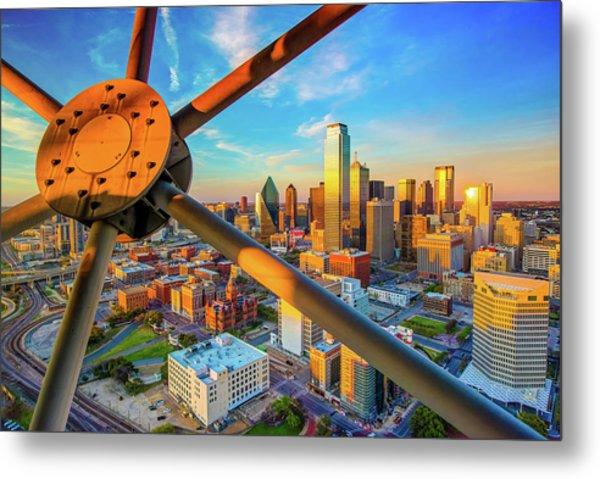 Dallas Texas Skyline At Sunset  Metal Print