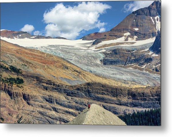 Daly Glacier And Yoho National Park Adventure Metal Print