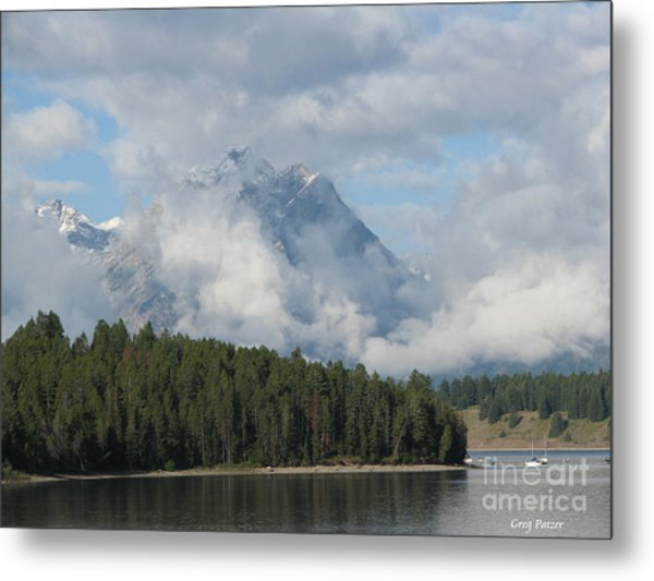 Dam Clouds Metal Print by Greg Patzer