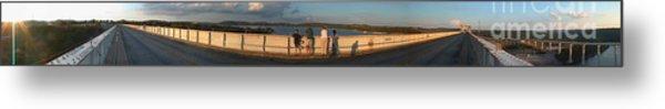 Dam N Lake Travis Panorama Metal Print by Daniel Henning