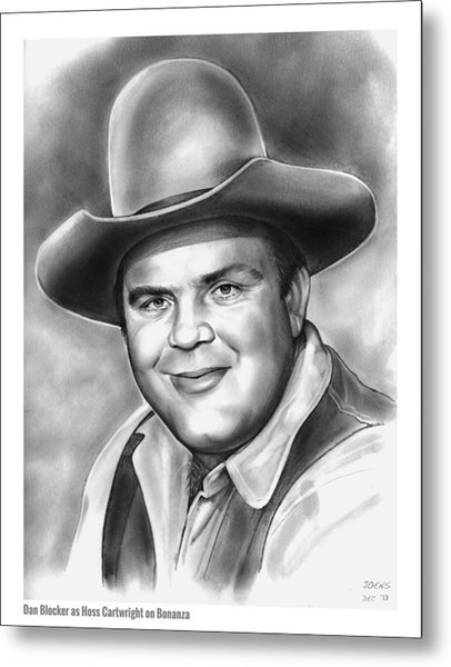 Dan Blocker Metal Print
