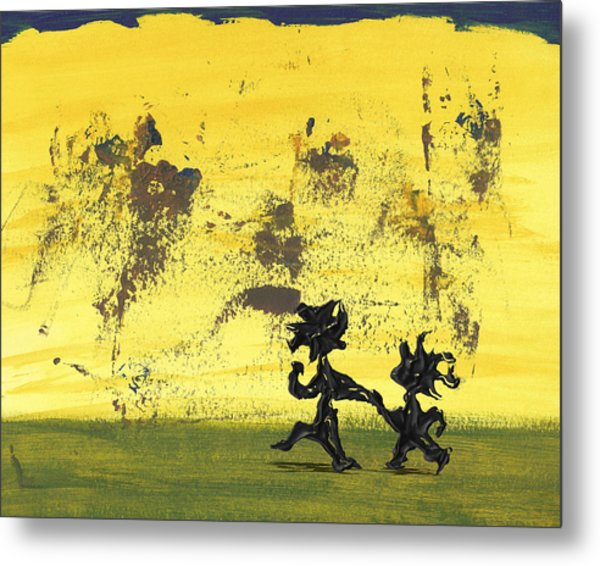 Dance Art Dancing Couple 147 Metal Print